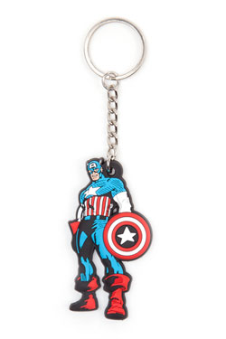 Marvel Comics Rubber Keychain Comic Captain America