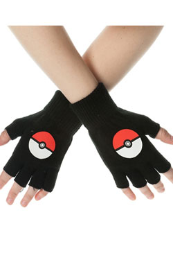 Pokemon Gloves (Fingerless) Poke Ball