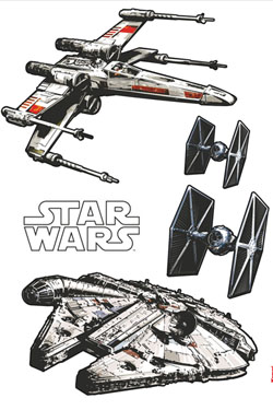 Star Wars Wall Decor Spaceships 100 x 70 cm