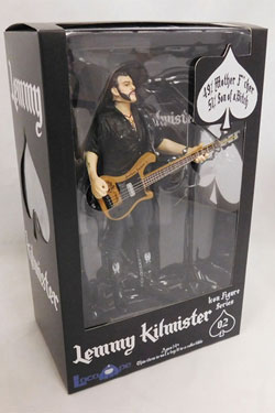 Motörhead Action Figure Lemmy Kilmister Black Pick Guard Guitar 16 cm