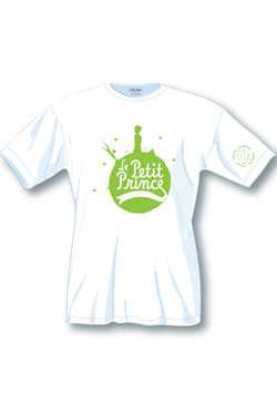 The Little Prince Ladies T-Shirt Green Logo Size S