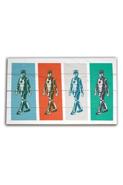Doctor Who Wooden Wall Art Walking Cyberman 45 x 76 cm
