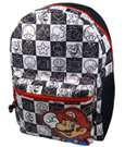 Super Mario Bros. Backpack Black/White
