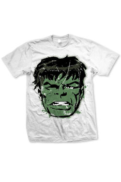 Marvel Comics T-Shirt Hulk Big Head Distressed  Size L