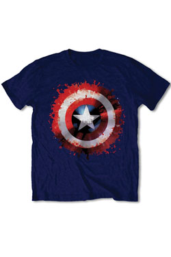 Marvel Comics T-Shirt Captain America Splat Shield  Size S