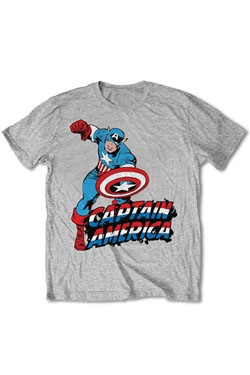 Marvel Comics T-Shirt Simple Captain America  Size S