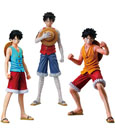 One Piece Super One Piece Styling Figure 3-Pack Monkey D. Ruffy 11 cm