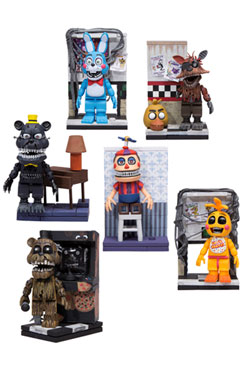 Five Nights at Freddy's Micro Construction Set Wave 1 Assortment (12)