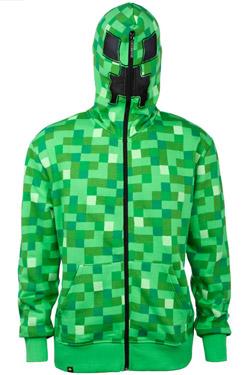 Minecraft Hooded Sweater Creeper Premium Size L