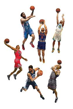 NBA Basketball Action Figures 15 cm Series 28 Assortment (8)