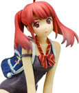 Poyoyon Rock Artwork Collection Resi Carat Statue Cover Girl Sitting Pose Regular Edition 13 cm