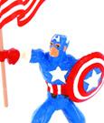 Marvel Comics Mini Figure Captain America & Flag 10 cm