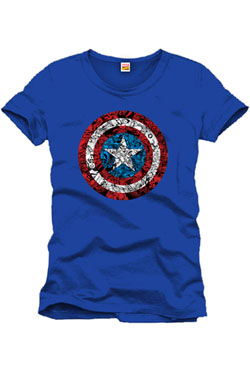 Captain America T-Shirt Collage Logo Size M