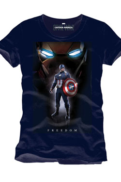 Captain America Civil War T-Shirt Freedom Size XL
