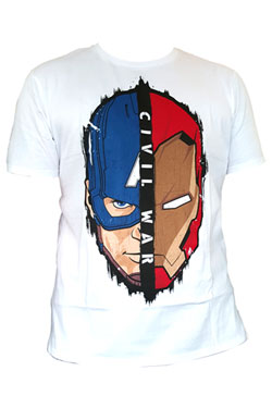 Captain America Civil War T-Shirt Stark Cap Head Size S