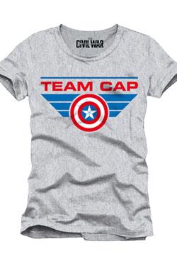 Captain America Civil War T-Shirt Team Cap Size XL