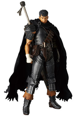 Berserk Golden Age Arc RAH Action Figure Guts Black Swordsman Ver. 30 cm