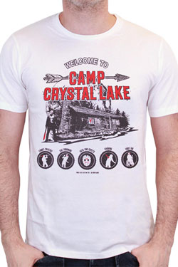 Friday the 13th T-Shirt Camp Crystal Lake White Size XL