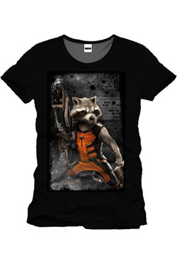 Guardians of the Galaxy T-Shirt Raccon Machine Gun Size L