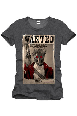 Guardians of the Galaxy T-Shirt Wanted Star Lord Size M