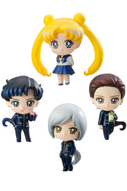 Sailor Moon Petit Chara Trading Figure 4-Pack Three Lights (Star Lights) 6 cm