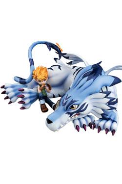 Digimon Adventure G.E.M. Series PVC Statue Garurumon & Yamato 25 cm