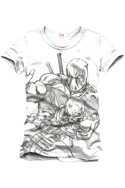 Deadpool T-Shirt Sketch Size XL