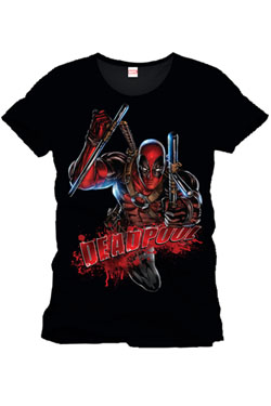 Deadpool T-Shirt Bloody Attack Size M
