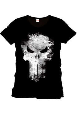 Punisher T-Shirt Distress Skull Size L