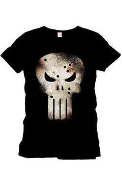 Punisher T-Shirt Gunshot Skull Size L