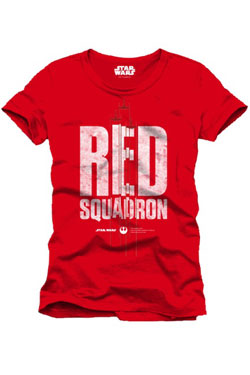 Star Wars Rogue One T-Shirt Red Squadron Size L
