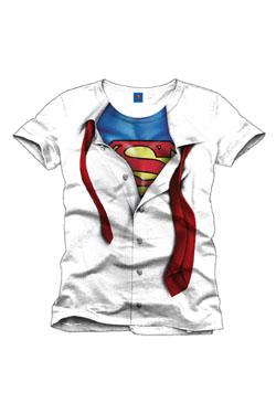 Superman T-Shirt Clark Kent white Size XL