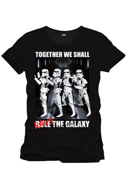 Star Wars T-Shirt Rave The Galaxy Size S