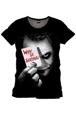 Batman T-Shirt Why So Serious Size XL