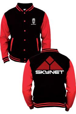 Terminator Baseball Varsity Jacket Skynet Logo Size S