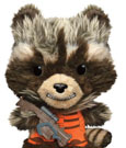 Guardians of the Galaxy Fabrikations Plush Figure Rocket Raccoon 15 cm