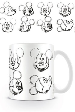 Mickey Mouse Mug Sketch Faces