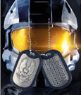 Halo 4 Dog Tags with ball chain UNSC