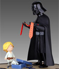 Star Wars Maquette & Book Darth Vader and Son 25 cm