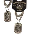 Sons of Anarchy Dog Tag with ball chain Logo