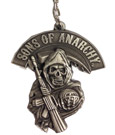 Sons of Anarchy Metal Keychain Grim Reaper