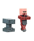 Minecraft Action Figure Blacksmith with Anvil 8 cm