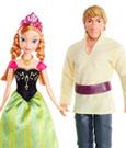 Frozen Dolls 2-Pack Anna & Kristoff 30 cm