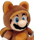 Super Mario Bros. Plush Figure Tanuki Mario 21 cm