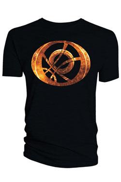 Doctor Strange T-Shirt Orange Symbol Oblong black Size XL