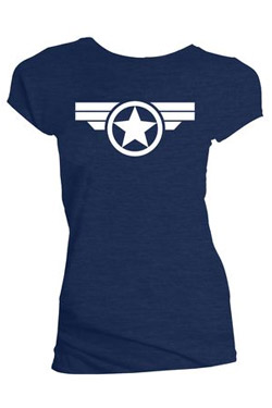 Marvel Ladies T-Shirt Steve Rogers Super Soldier Size S