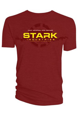 Marvel T-Shirt Iron Man Stark Industries Chief Weapons Tech Advisor Size M