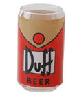 Simpsons Glass 6-Pack Duff Beer