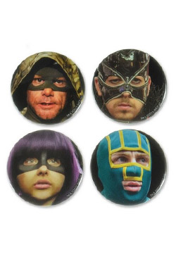 Kick-Ass 2 Pin-back Button 4-Pack Character Faces