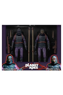 Planet of the Apes Action Figure 2-Pack Classic Gorilla Soldier Infantry 18 cm